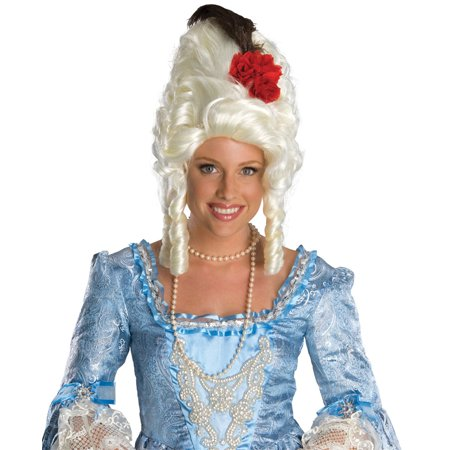 Marie Antoinette Costume Wig with Rose 51776 - Red Rose