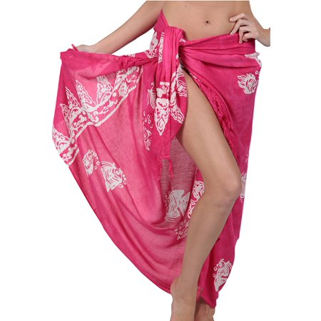 Ingear Long Batik Print Sarong Womens Swimsuit Wrap Cover Up Pareo