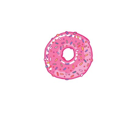 Pink Frosted Donut  Straight On Poster -