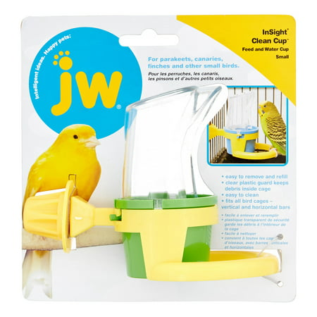 - Petmate JW Clean Cup Feed & Water Bird Cup, Small
