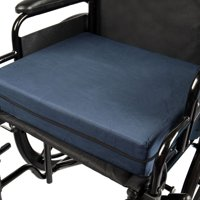 DMI Foam Seat Cushion for Your Wheelchair, Car or Chair, with Cover, Navy