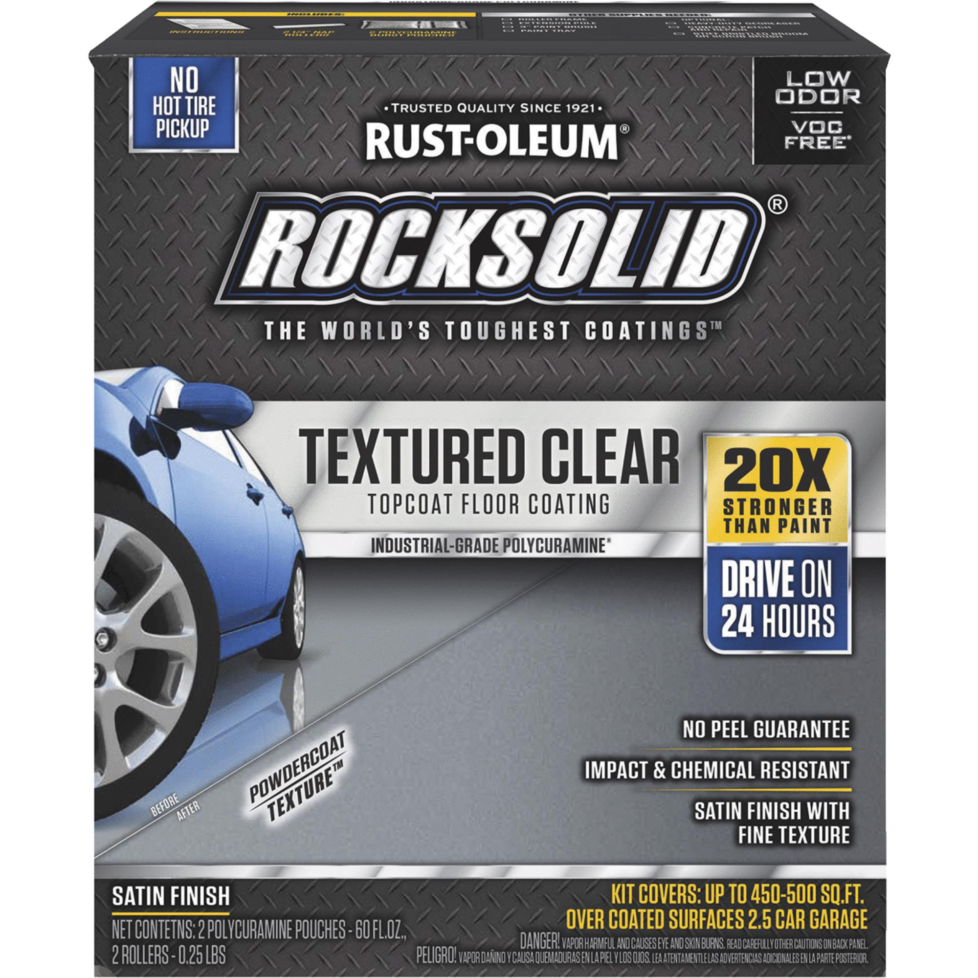 Rust-Oleum RockSolid Textured Clear Topcoat Floor Coating Kit