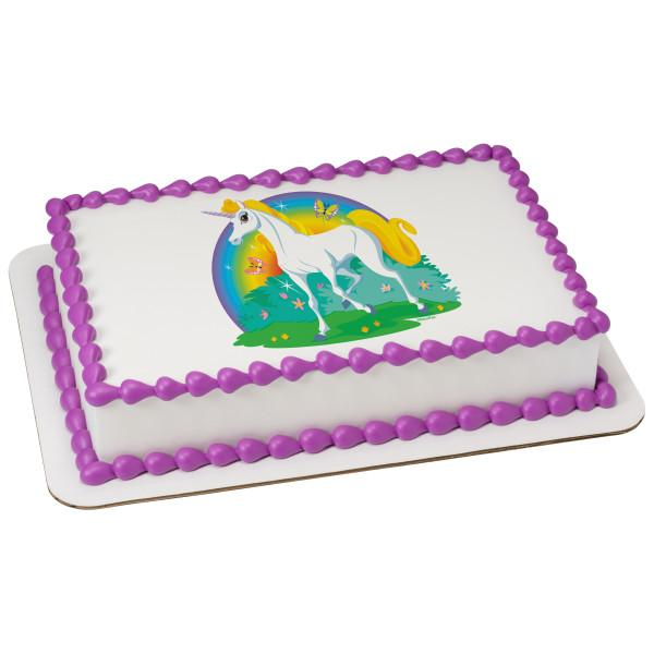 Unicorn Edible Cake Topper Image