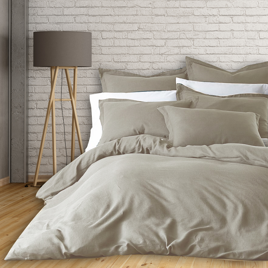 100% Linen 3pc Duvet Cover - Linen/King - image 1 de 1