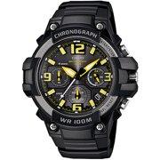 Men's Rugged Chronograph Watch, Black/Yellow