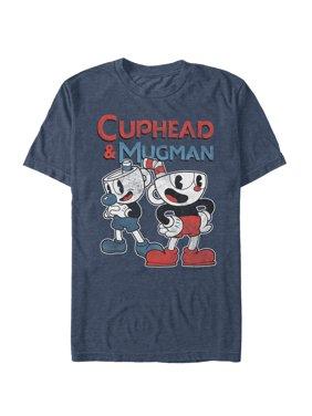 Cuphead Men's Retro Best Friend Mugman T-Shirt