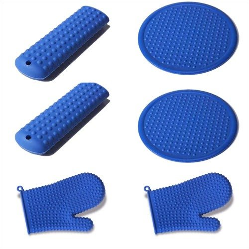 Silicone Solutions 6 Piece Blue Accessory Set