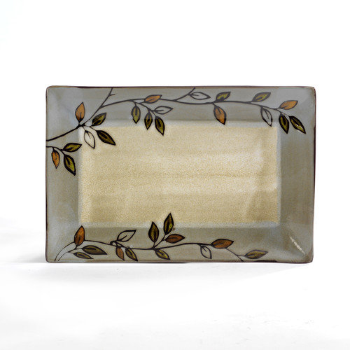 Pfaltzgraff Everyday Rustic Leaves Rectangular Platter