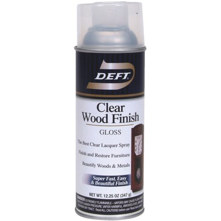 Deft Clear Wood Finish Interior Spray Lacquer Spray Wood Finish