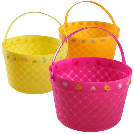 Prextex Easter Eggs Basket Great for Easter Egg Hunts and Easter Eggs Festival