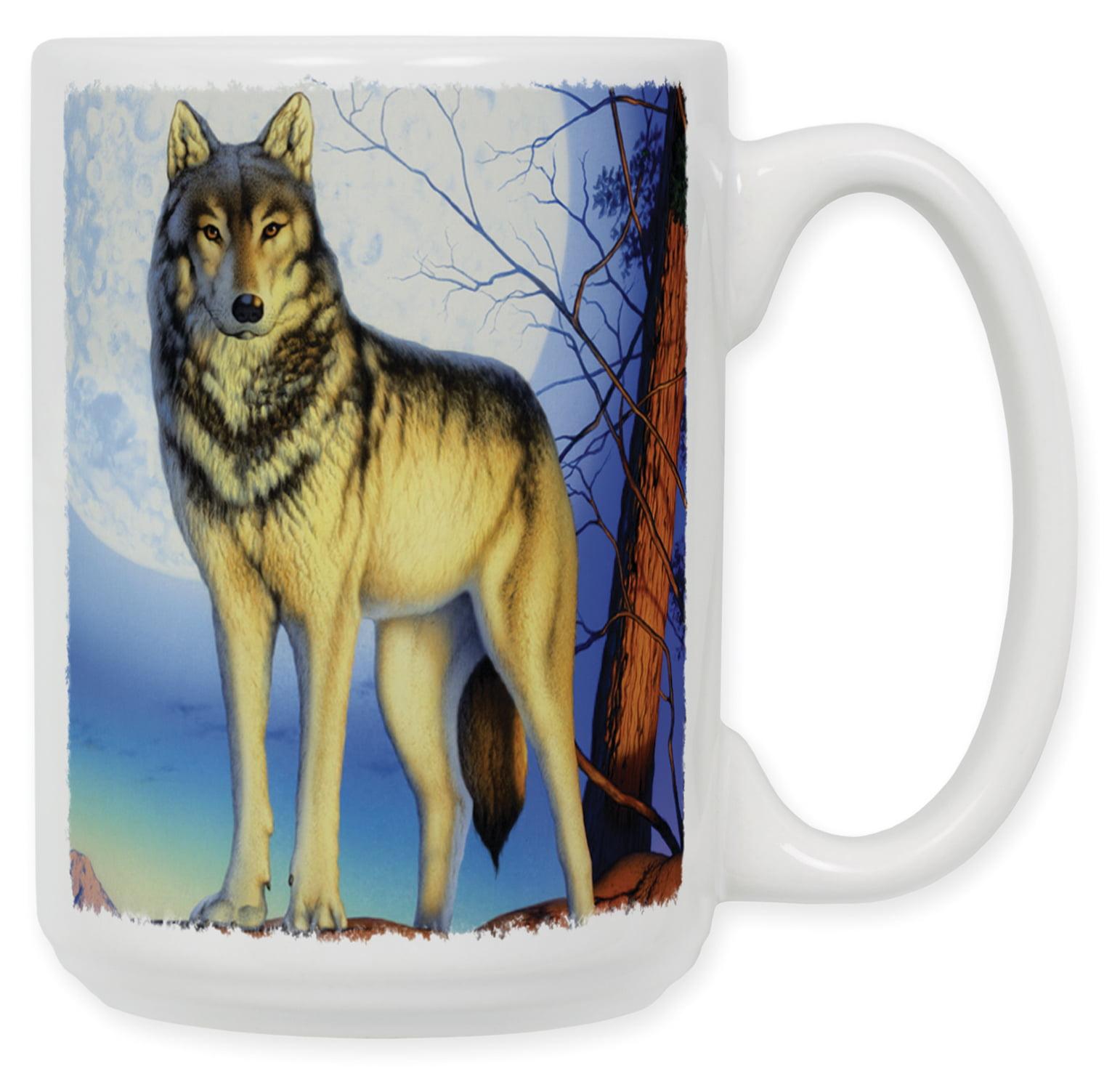 15 Ounce Ceramic Coffee Mug Timber Wolf Walmart Com Walmart Com