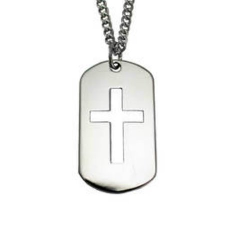 Stainless Steel Cross Cut Out Necklace-Phil 4:13