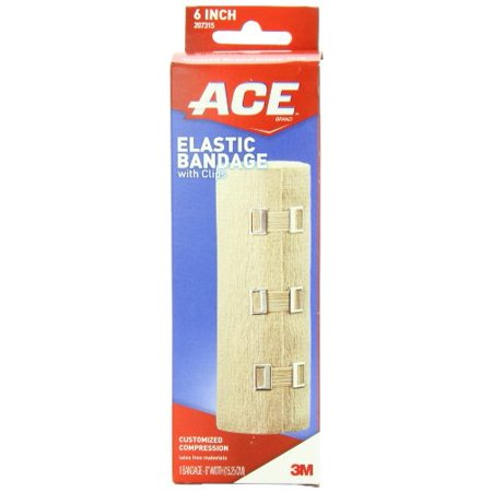 ACE Elastic Bandage with Clips, 6 Inch, 1 Each