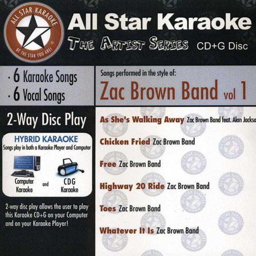 All Star Karaoke: The Artist Series - Zac Brown Band, Vol.1