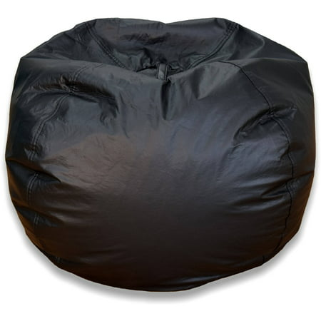 Jumbo Bean Bag Chair, Multiple Colors Black Vinyl Bean Bag