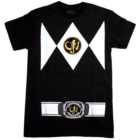 Power Rangers Men's Costume Style, Crew Neck, Short Sleeve T-Shirt