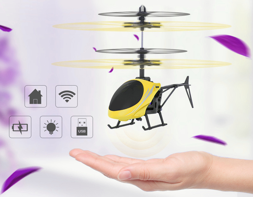RC Flying Toy, Bangcool RC Helicopter USB Rechargeable Hand Induction Helicopter Toy... by Bangcool
