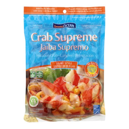 Transocean Products Supreme Flake Style Family Pack Crab, 24 oz