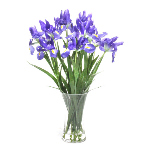 Dalmarko Designs Faux Iris in Vase