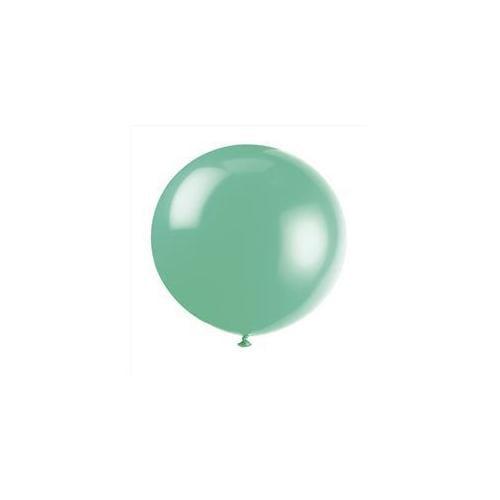 36'' Jumbo Latex Fern Green Balloons, 6ct