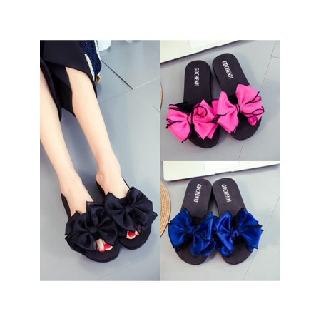 Women Summer Beach Flower Flat Indoor Outdoor Slippers Flip Flops SanFlats Shoes