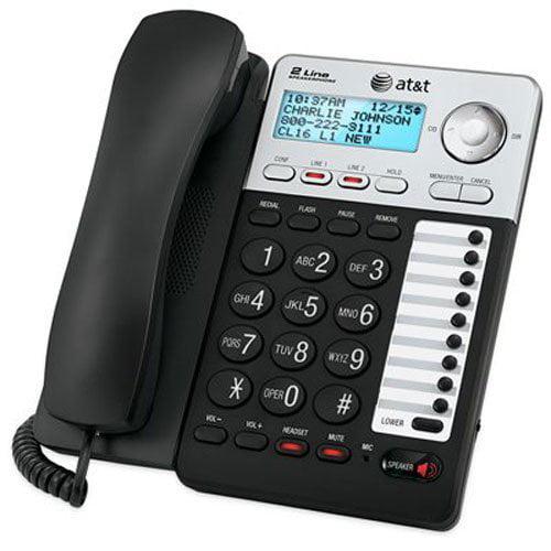 Landline Corded Phone, Att Ml17929 2-line Home Office Desk Speaker Landline Phone
