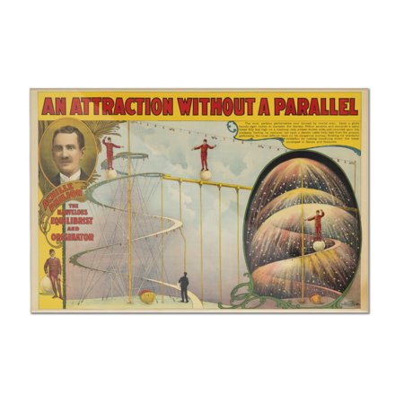 Achille Philion - An Attraction Without a Parallel Vintage Poster USA c. 1899 (12x8 Acrylic Wall Art Gallery Quality)