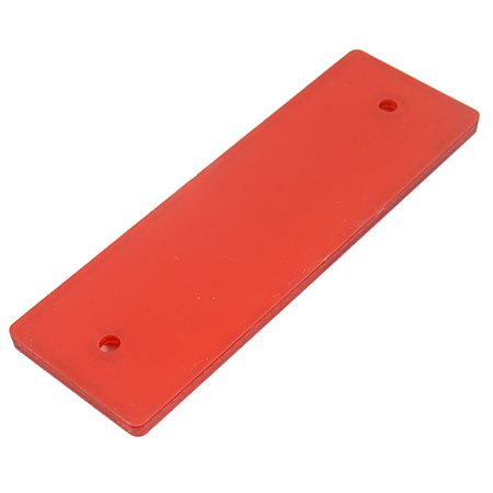 Motorcycle Car Truck Rectangle Safety Brake Reflector Caution Warning Plate Red - image 1 de 3