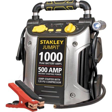 Stanley 1000 Amp Peak Jump Starter With Compressor