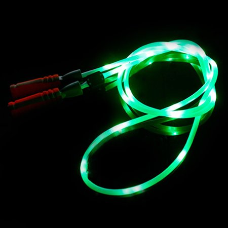 Light Up Jump Rope (GlowCity LED Light Up Super Bright 3 Modes Jump Rope for Adults & Teens -)