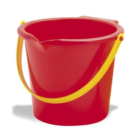 American Educational Products AEPDT1330 8 in. Dantoy Colored Bucket with Lip - Colored Metal Buckets
