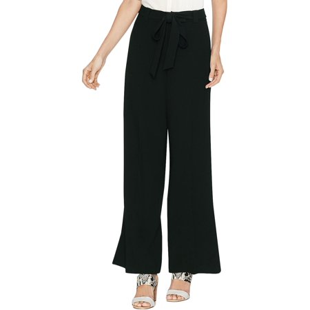 Vince Camuto Womens Belted Cropped Wide Leg Pants