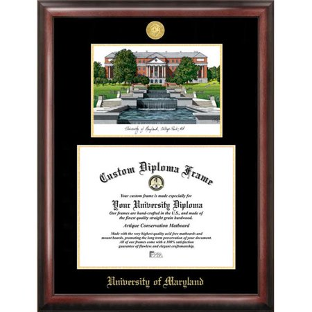 Campus Images MD998LGED University of Maryland Gold embossed diploma ...