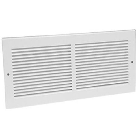 - American Metal Products 372W12X6 12 x 6-Inch White Sidewall Return Air Grille