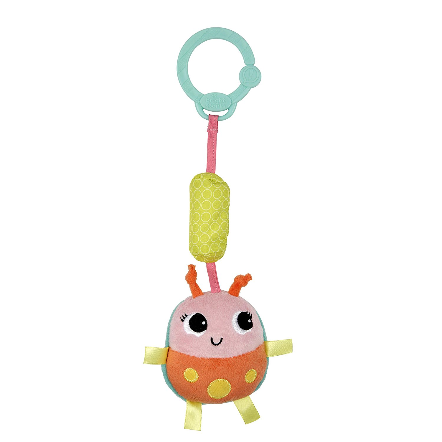 Bright Starts Chime Along Friends Bug Orange Pink by