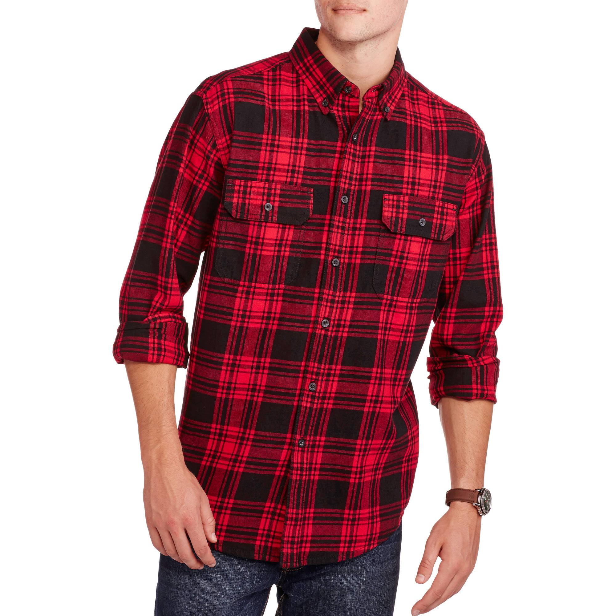 Faded Glory Men's Long Sleeve Flannel Shirt