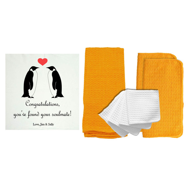 "Personalized ""You've Found Your Soulmate"" 8 Piece Kitchen Towel Set"