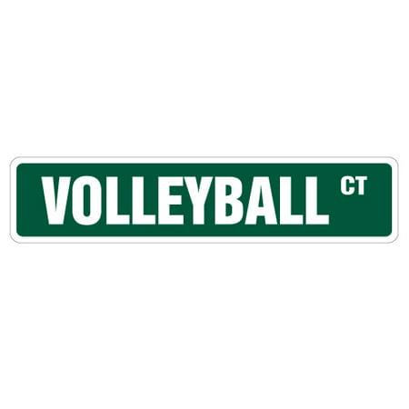 VOLLEYBALL Street Sign signs ball net player team | Indoor/Outdoor | 24