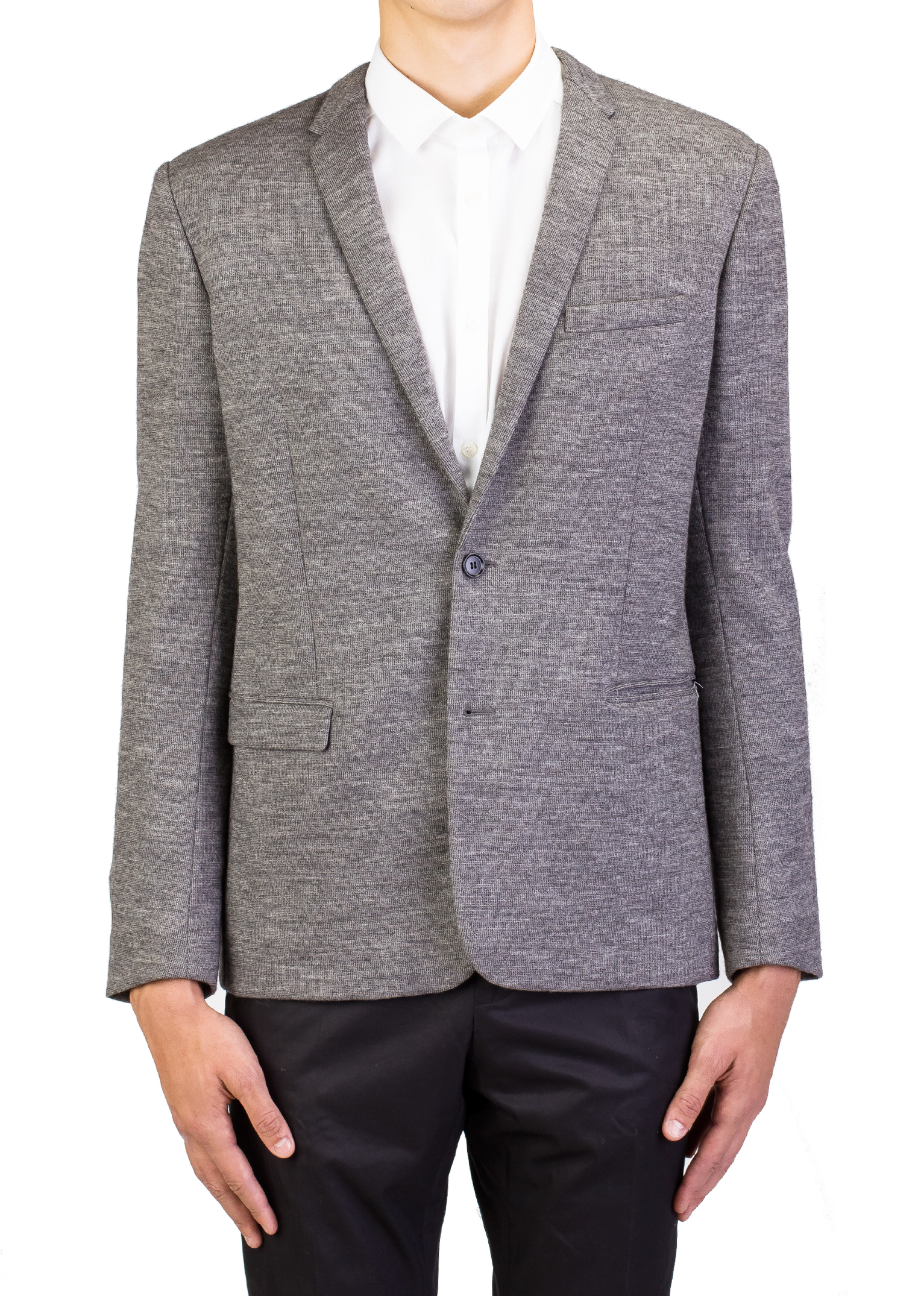 Dior Homme Men's Soft Virgin Wool Two-Button Sportscoat Jacket Grey by Dior