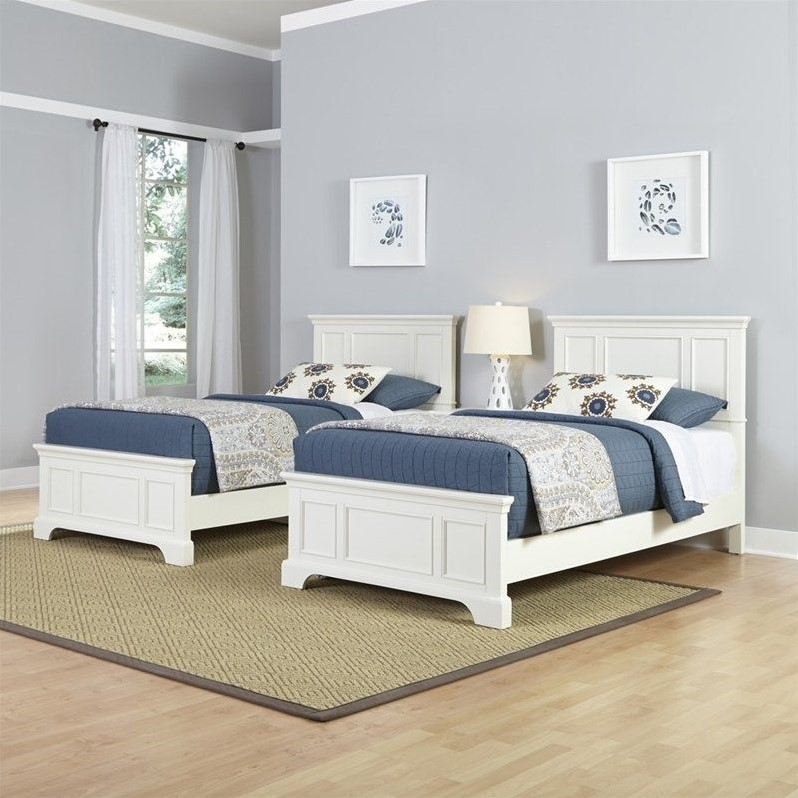 Home Styles Naples Two Twin Beds 3 Piece Bedroom Set in White - image 1 de 3