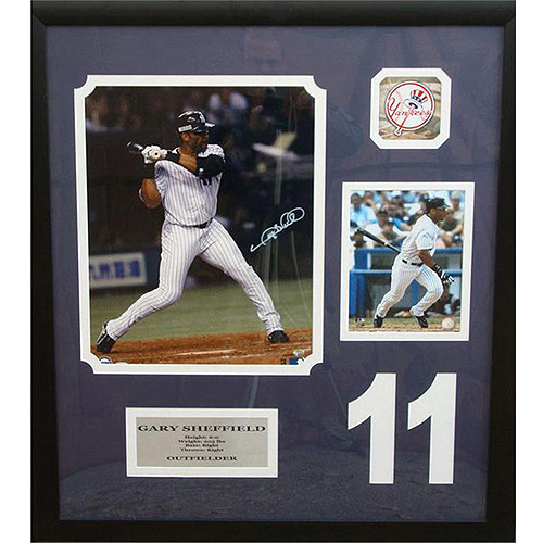 MLB 30x34 Autographed Frame, Gary Sheffield New York Yankees