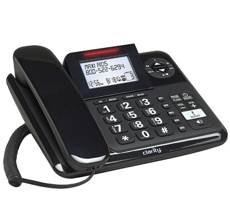 """Clarity E814 DECT 6.0 Expandable Corded Phone with 40dB Amplification, Caller ID and Digital Answering System"""