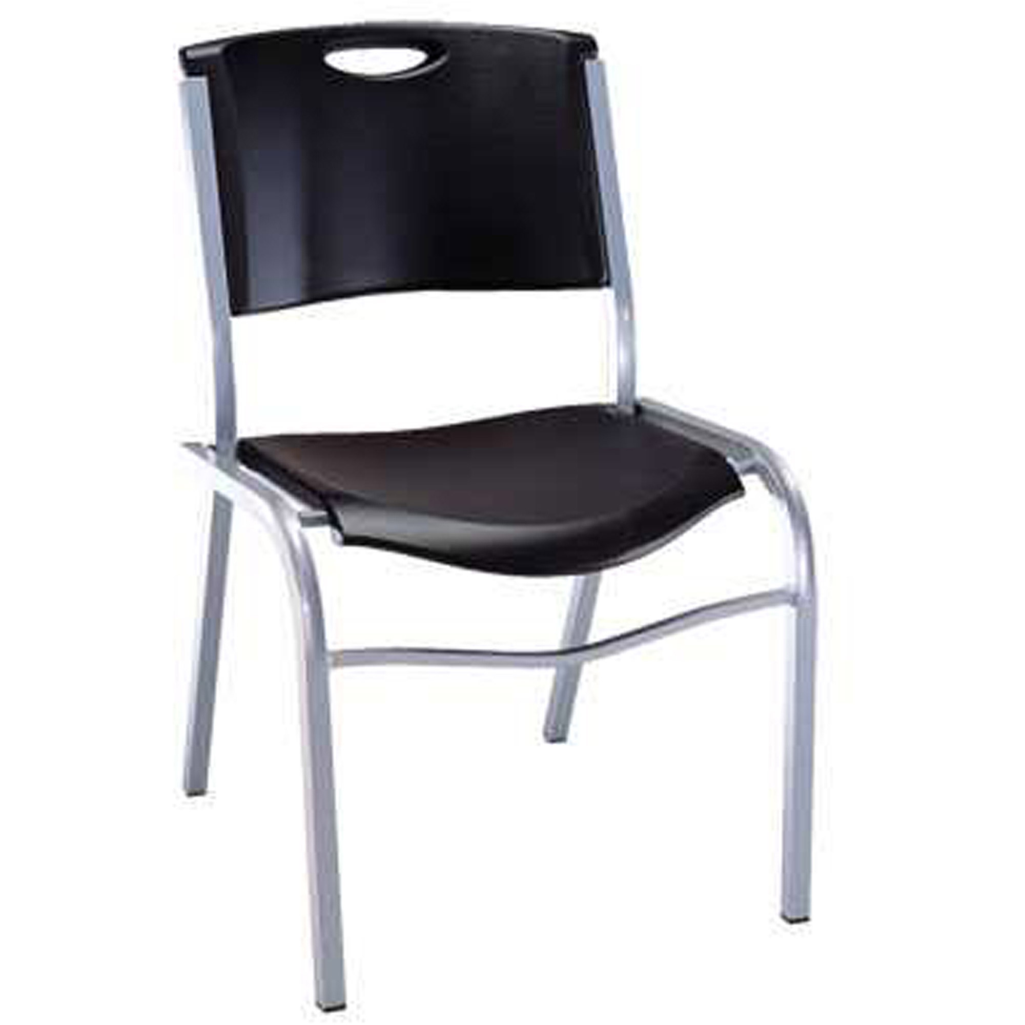 Lifetime Stacking Chair Black Set of 4 Walmart