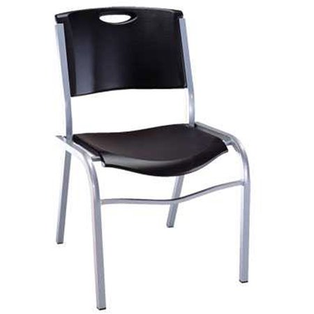 Lifetime Stacking Chair Black Set Of 4 42830 Walmart Com