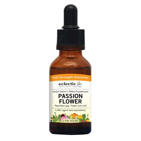 Passion Flower No Alcohol Glycerite Eclectic Institute 1 oz Liquid Eclectic Institute Passion Flower