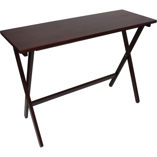 "Lipper NEW Folding Buffet Table, Espresso Finish - Rectangle Top - 42"" Table Top Width x 15.25"" Table Top Depth - 29.75"" Height - Espresso - Pine Wood"
