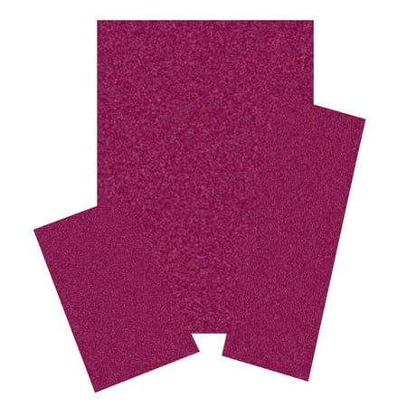 Home Queen Solid Color Cranberry 6'x9' 2'x8' 2'x3' Set - Area