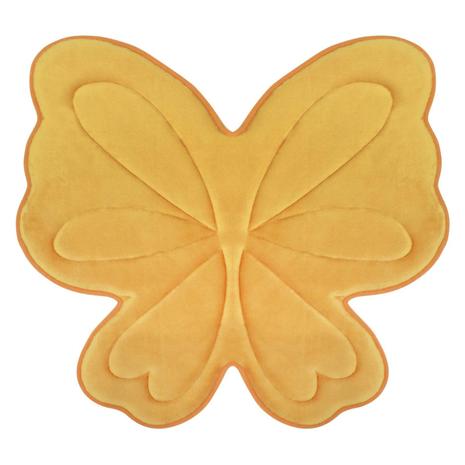 Bounce Comfort Memory Foam Butterfly 30 in. x 30 in. Bath Mat