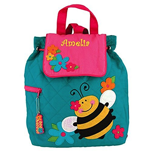 Personalized Happy Bumble Bee Embroidered Backpack - CUSTOM NAME