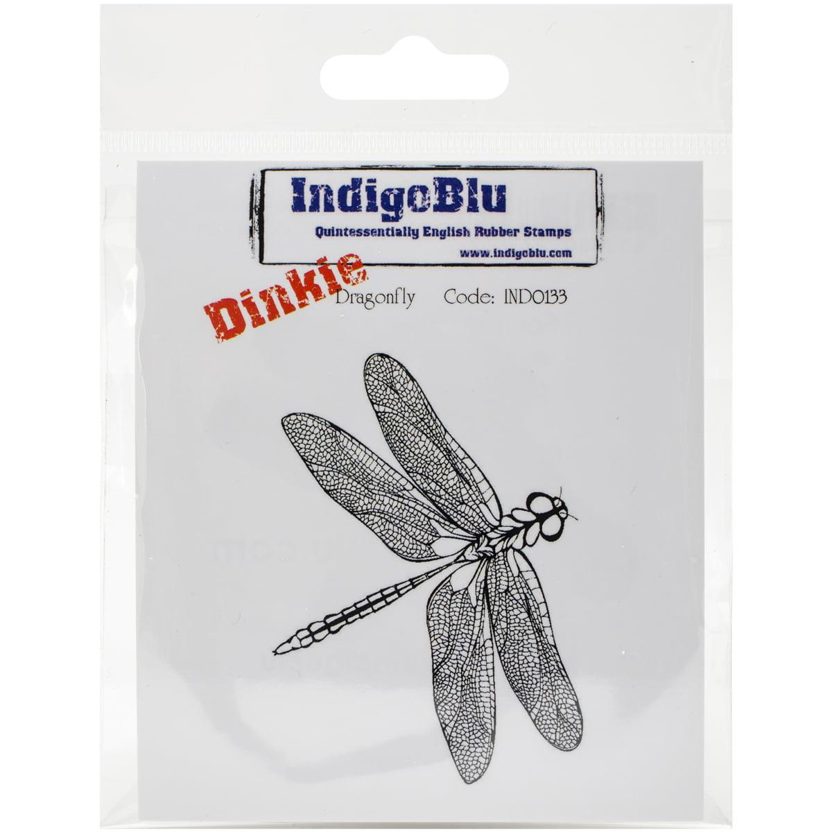 Indigoblu Cling Mounted Stamp -Dragonfly - Dinkie
